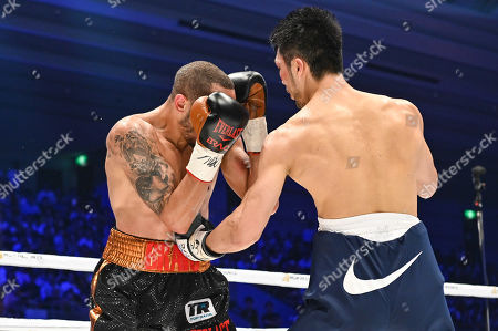 Stock Image of Ryota Murata of Japan fights against Rob Brant of United States