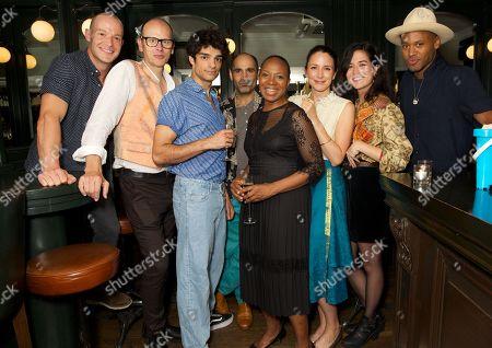 Stock Image of Cast Keith Gilmore, Robert Fitch, Ethan Kai, Zubin Varla, Doreen Blackstock, Natalie Radmall-Quirke, Norah Lopez Holden & Ira Mandela