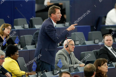 Stock Picture of French Green Party member Yannick Jadot gestures during a debate at the European Parliament in Strasbourg, eastern France, . Outgoing German defense minister Ursula von der Leyen is seeking to woo enough legislators at the European Parliament to secure the job of European Commission President in a secret vote late Tuesday