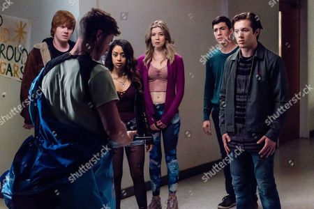 Adam Hicks as Diesel Turner, Liza Koshy as Violet Adams, Meghan Rienks as Zoe Parker, Tyler Chase as Barrett McIntyre and Leo Howard as Grover Jones