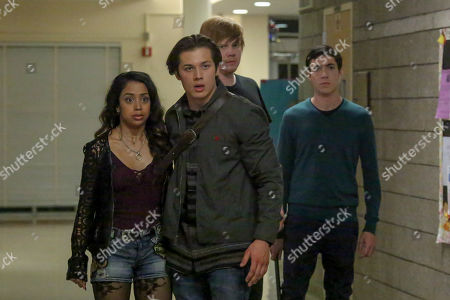 Liza Koshy as Violet Adams, Leo Howard as Grover Jones, Adam Hicks as Diesel Turner and Tyler Chase as Barrett McIntyre