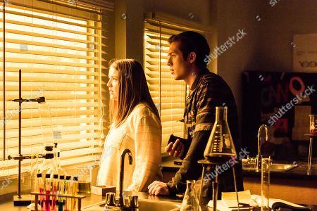 Aislinn Paul as Natalie Callaway and Leo Howard as Grover Jones