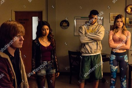 Adam Hicks as Diesel Turner, Liza Koshy as Violet Adams, Melvin Gregg as LaShawn Devereaux and Meghan Rienks as Zoe Parker