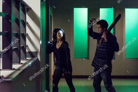 Liza Koshy as Violet Adams and Leo Howard as Grover Jones