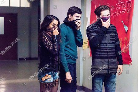 Liza Koshy as Violet Adams, Tyler Chase as Barrett McIntyre and Leo Howard as Grover Jones