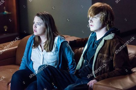 Aislinn Paul as Natalie Callaway and Adam Hicks as Diesel Turner