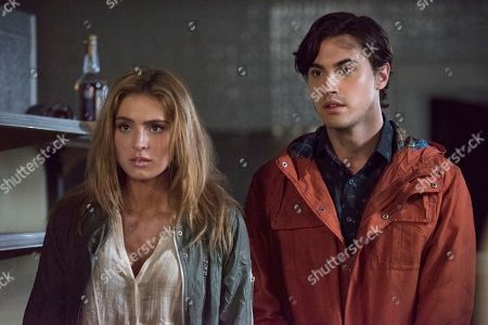 Saxon Sharbino as Anka and Ryan McCartan as Ollie