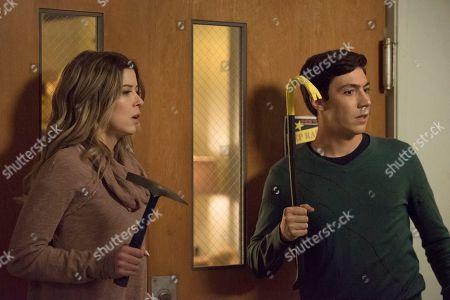 Meghan Rienks as Zoe Parker and Tyler Chase as Barrett McIntyre