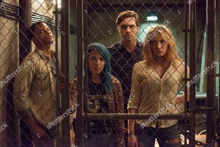 Jordan Calloway as Zane, Niki Demartino as Sadie, Ryan McCartan as Ollie and Saxon Sharbino as Anka