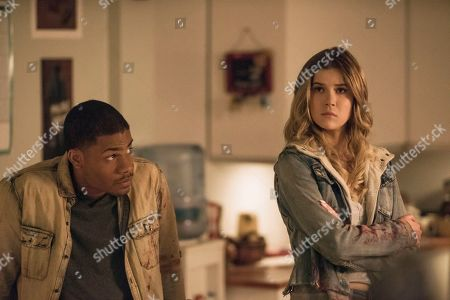 Jordan Calloway as Zane and Meghan Rienks as Zoe Parker