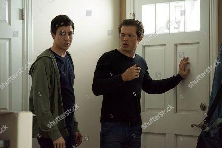 Stock Image of Tyler Chase as Barrett McIntyre and Leo Howard as Grover Jones