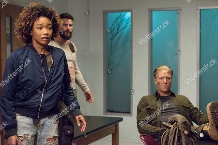 Tati Gabrielle as Birdie, Brant Daugherty as Jake and Jake Busey as Earl