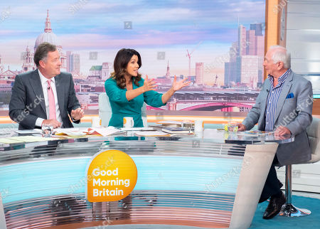 Stock Picture of Piers Morgan and Susanna Reid with Johnny Ball