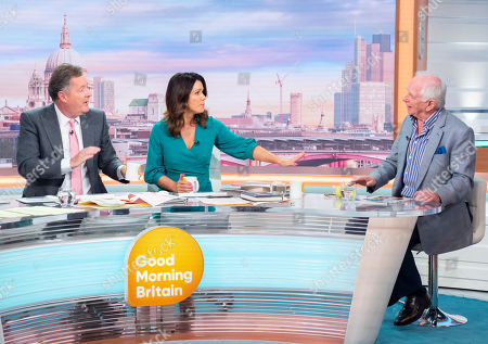 Piers Morgan and Susanna Reid with Johnny Ball