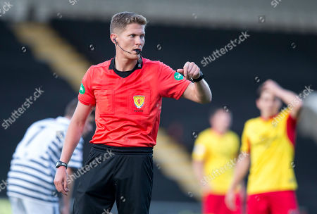Queens Park V Partick Thistle, Befred Cup. Referee David Dickinson