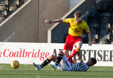 Queens Park V Partick Thistle, Befred Cup. Partick?s Tommy Robson stopped by Queens James Grant