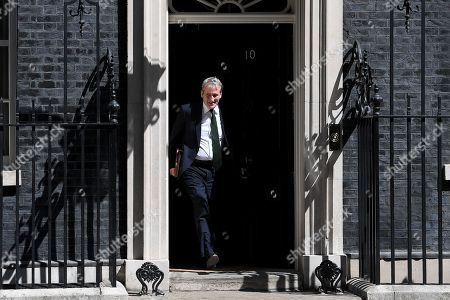 Damian Hinds, Secretary of State for Education, leaves No.10 Downing Street after attending a cabinet meeting.
