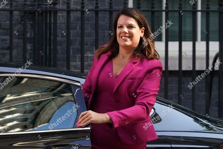 British Secretary of State for Immigration Caroline Nokes arrives for a cabinet meeting in Downing Street. central London, Britain, 16 July, 2019. The contest to replace Theresa May as leader of the Conservative Party and Prime Minister will finish on 23 July when her replacement will be announced with the winner taking office a day later.