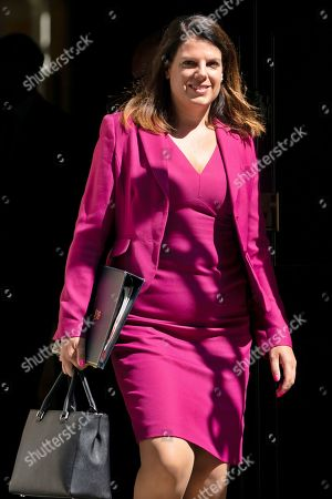British Secretary of State for Immigration Caroline Nokes leaves after a cabinet meeting in Downing Street. central London, Britain, 16 July, 2019. The contest to replace Theresa May as leader of the Conservative Party and Prime Minister will finish on 23 July when her replacement will be announced with the winner taking office a day later.