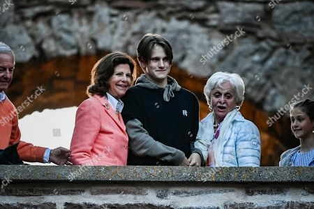 Stock Picture of Queen Silvia with her sister-in-law Charlotte de Toledo Sommerlath