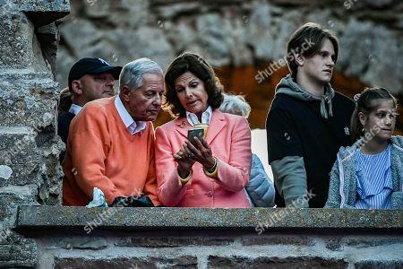 Stock Photo of Queen Silvia with her brother Ralf de Toledo Sommerlath