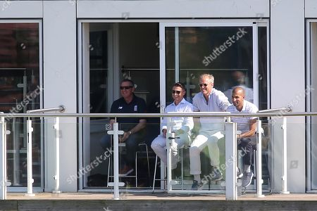 From left to right, England Head Coach, Trevor Bayliss, James Taylor, Ed Smith and Vikram Solanki look on during England Lions vs Australia A, Domestic First Class Multi-Day Match Cricket at the St Lawrence Ground on 16th July 2019