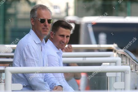 England National Selector, Ed Smith looks on alongside James Taylor during England Lions vs Australia A, Domestic First Class Multi-Day Match Cricket at the St Lawrence Ground on 16th July 2019