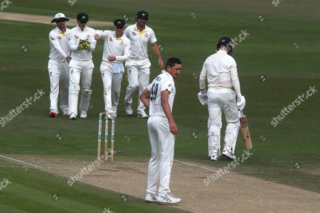 Jack Leach of England is out caught by Australian wicketkeeper, Tim Paine off the bowling of Chris Tremain during England Lions vs Australia A, Domestic First Class Multi-Day Match Cricket at the St Lawrence Ground on 16th July 2019