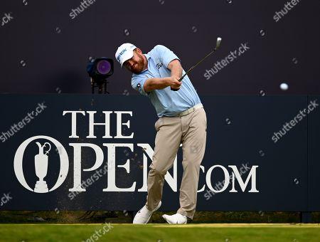 J. B. Holmes on the 1st hole