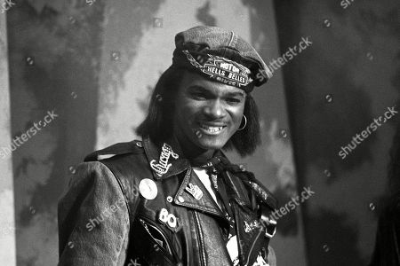 Stock Picture of Jermaine Stewart performing