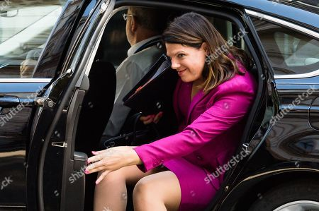 Caroline Nokes arrives for the weekly Cabinet meeting at 10 Downing Street in London.