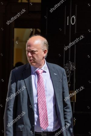 Stock Photo of Chris Grayling, Secretary of State for Transport, arrives for the Cabinet meeting