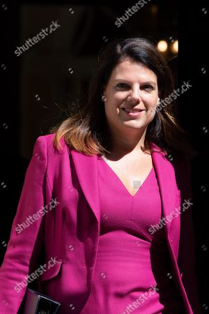 Caroline Nokes leaving a Cabinet meeting in Downing Street earlier