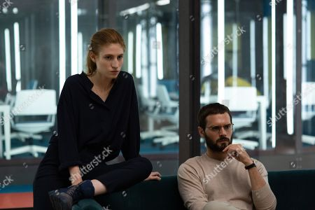 Agathe Bonitzer as Esther Vanhove and Hugo Becker as Paul Vanhove