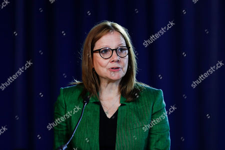 General Motors Chairman and Chief Executive Officer Mary Barra speaks during the opening of their contract talks with the United Auto Workers in Detroit