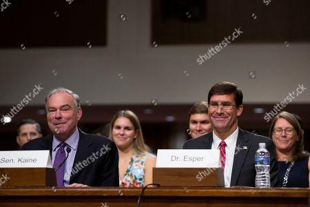 Editorial photo of Senate Armed Services Committee hearing, Washington DC, USA - 16 Jul 2019