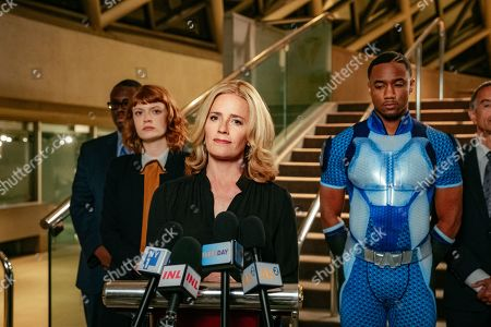Colby Minifie as Ashley, Elisabeth Shue as Madelyn Stillwell and Jessie T. Usher as A-Train
