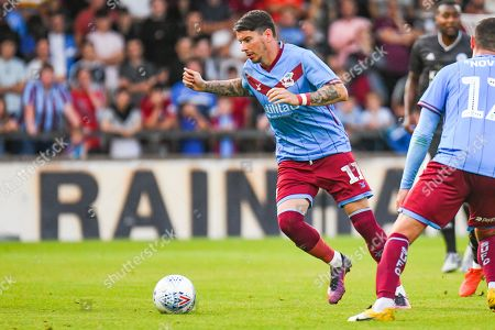 Adam Hammill of Scunthorpe United (11) in action during the Pre-Season Friendly match between Scunthorpe United and Leicester City at Glanford Park, Scunthorpe