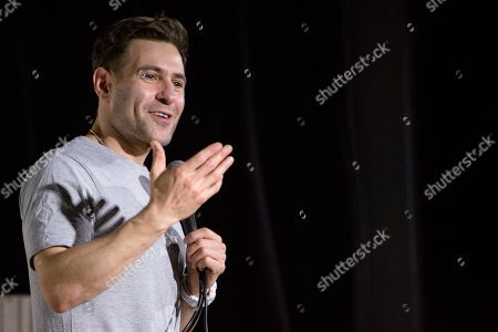 Simon Brodkin performs on day 2 of the 2019 Comedy Crate Comedy Festival in Northampton.