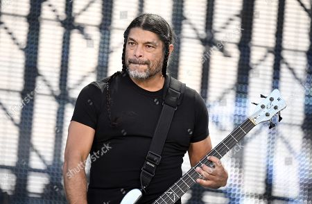 Metallica - Robert Trujillo on stage during the band's Worldwired Tour concert
