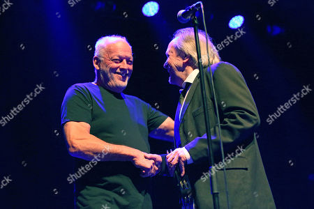 The PrettyThings - David Gilmour (Special Guest) and Phil May during the 'Final Bow' concert