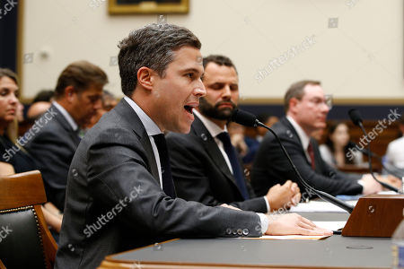 Adam Cohen, Matt Perault, Nate Sutton. Google Director of Economic Policy Adam Cohen testifies alongside Facebook Head of Global Policy Development Matt Perault, back center, and Amazon Associate General Counsel Nate Sutton, back right, during a House Judiciary subcommittee hearing, on Capitol Hill in Washington