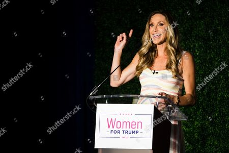 Lara Trump during a Women For Trump campaign rally for President Donald Trump in King of Prussia, Pa