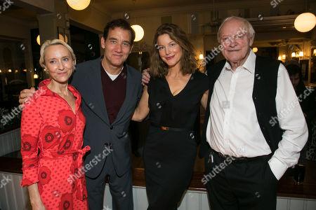 Stock Image of Lia Williams (Hannah Jelkes), Clive Owen (Reverend Shannon), Anna Gunn (Maxine Faulk) and Julian Glover (Nonno),