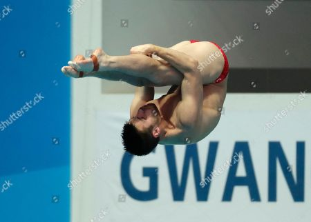 United States' David Boudia competes during the men's 3m springboard competitions at the World Swimming Championships in Gwangju, South Korea