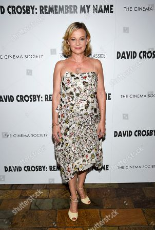 """Samantha Mathis attends a special screening of """"David Crosby: Remember My Name,"""" hosted by Sony Pictures Classics and The Cinema Society, at The Roxy Cinema, in New York"""