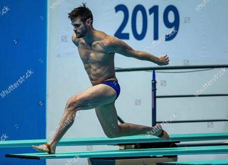 David Boudia of United States of America (USA) competes in the Men's 3m Springboard diving semifinal at the Gwangju 2019 FINA World Championships, Gwangju, South Korea, 17 July 2019.