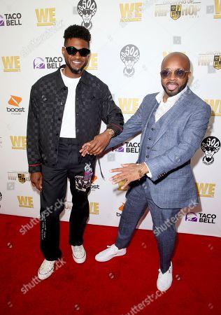 Stock Image of Usher and Jermaine Dupri