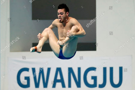 David Boudia of the United States competes in the semifinals of men's 3-meter springboard diving at the World Swimming Championships in Gwangju, South Korea