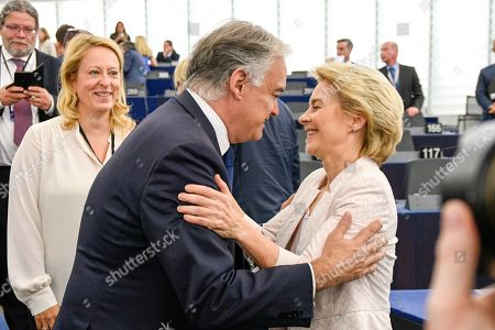 Ursula von der Leyen, Esteban Gonzalez Pons during the Election of the President of the Commission